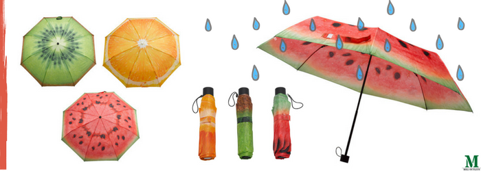 Fallen fruits compact folding umbrella