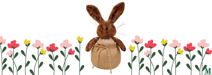 Rabbit in a bag doorstop Mother's day gift idea