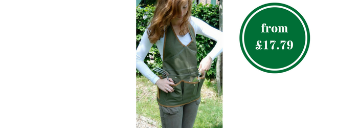 Women's gardening apron and tool belt for some Easter gardening