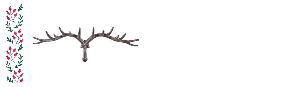 Unique Christmas gift ideas – a photo of a cast iron antler coat rack on a white background