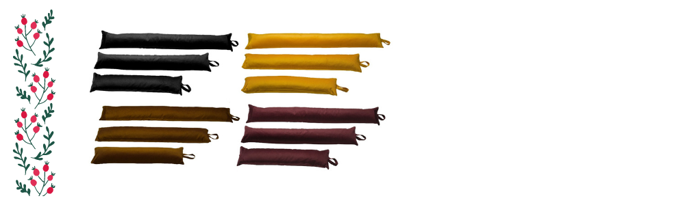 Unique Christmas Gift Ideas - a photograph of extra long draught excluders