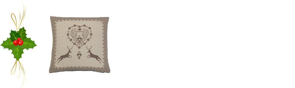 Women's Christmas gift ideas - a photograph of a festive cushion cover.