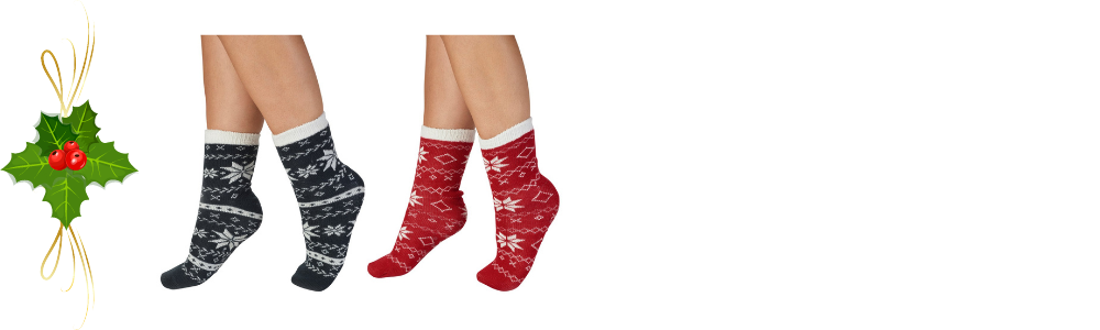 Women's Christmas gift ideas - a photograph of some snuggly bed socks.